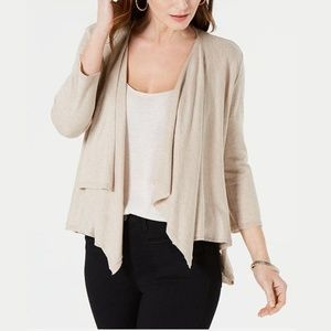 NWT Style & Co Draped Pointelle-Back Cardigan